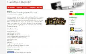 Screenshoot House of LAN